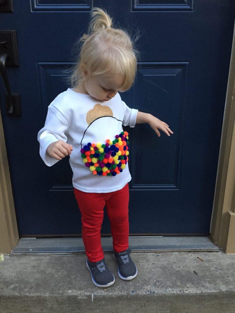 Easy Toddler Gumball Machine Halloween Costume