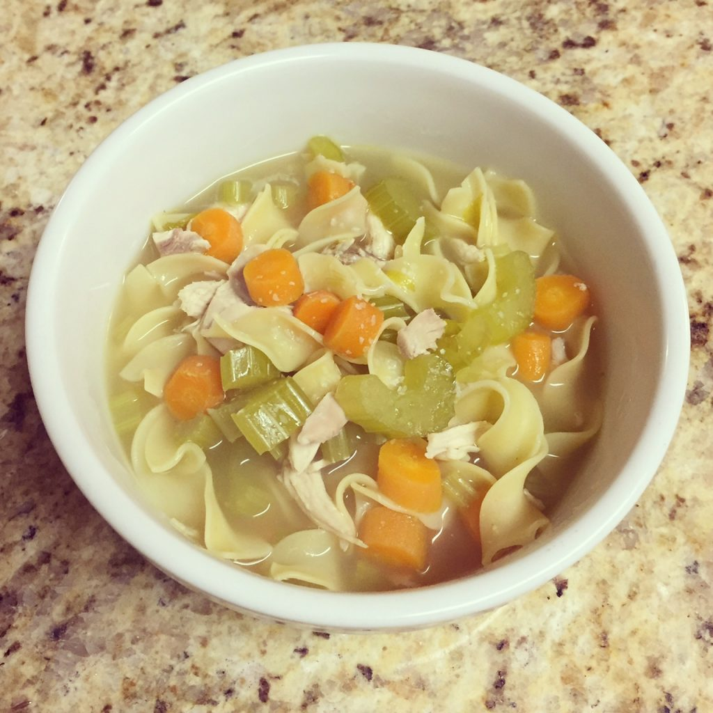 semi-homemade chicken noodle soup