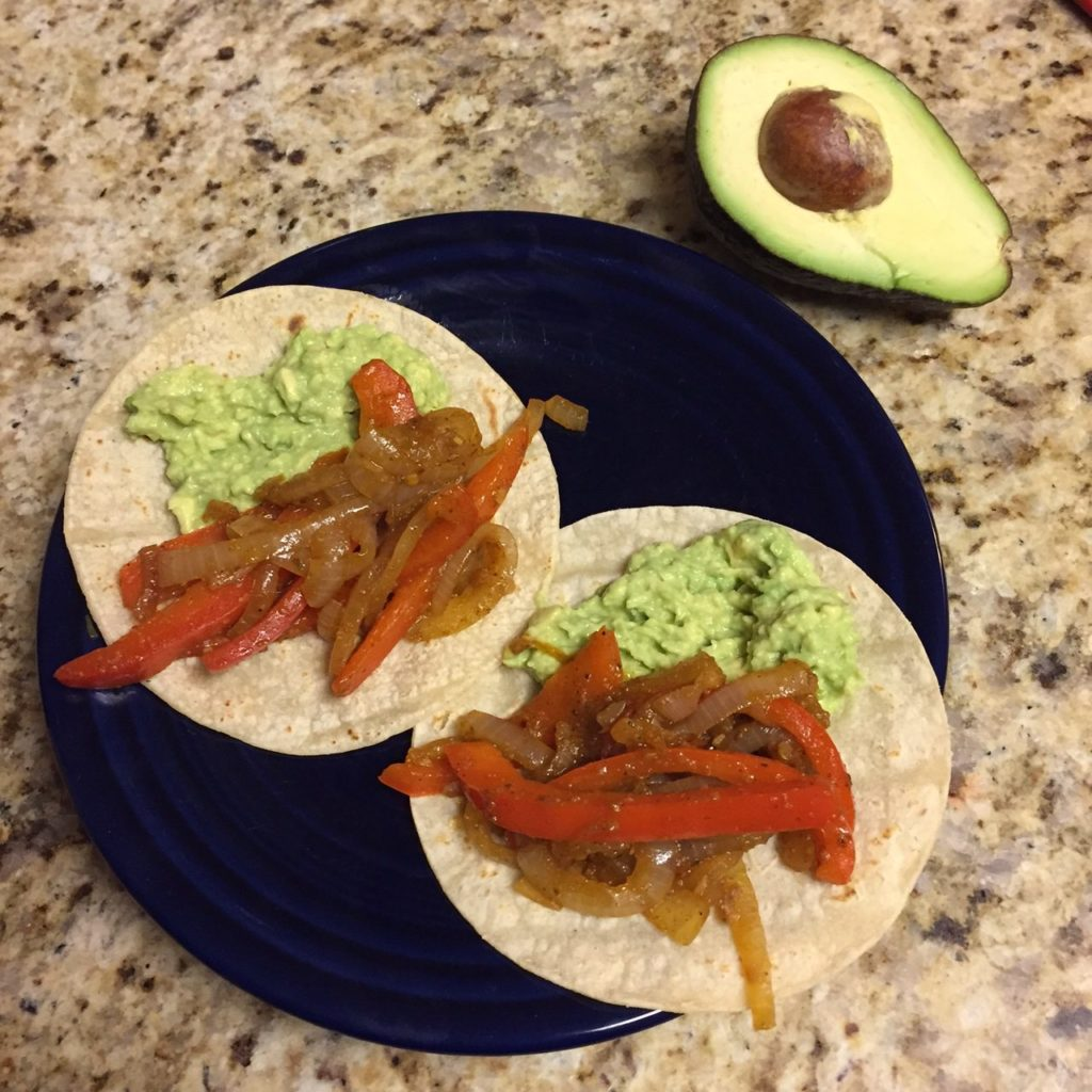Sauteed Pepper and Onion Tacos
