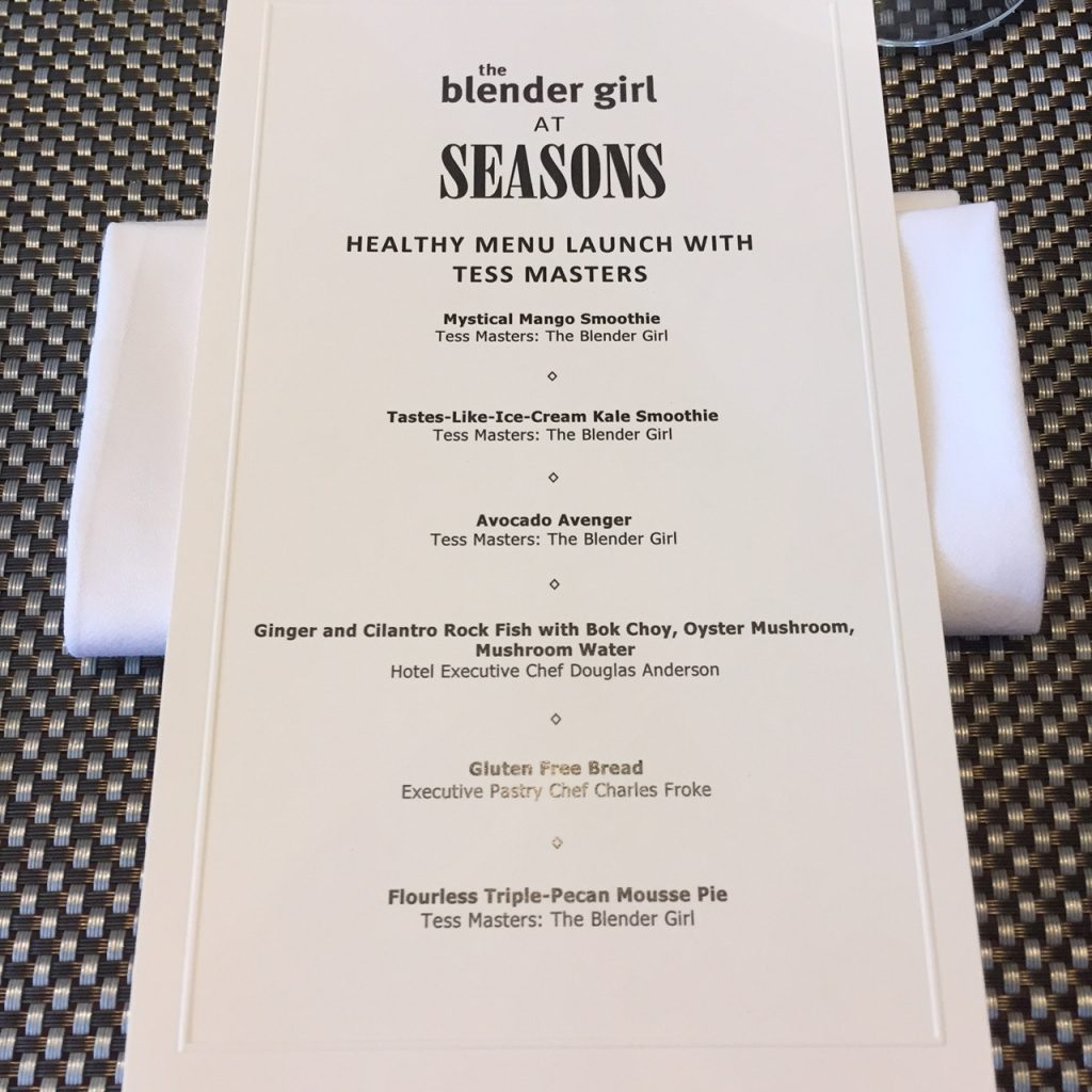 The Blender Girl Seasons Menu