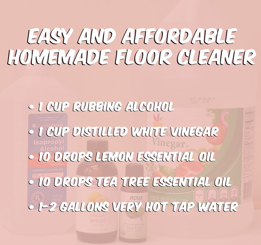 Homemade All Natural Floor Cleaner