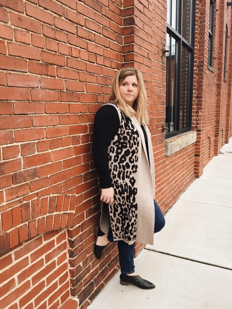 Lane Bryant Leopard Vest