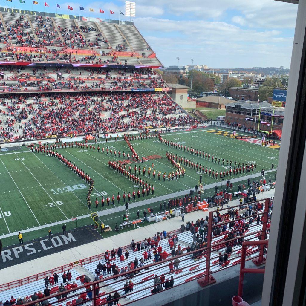 Cheering On Maryland