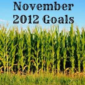 November 2012 Goals