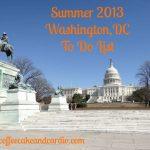 Summer 2013 To Do List