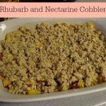 Rhubarb and Nectarine Cobbler