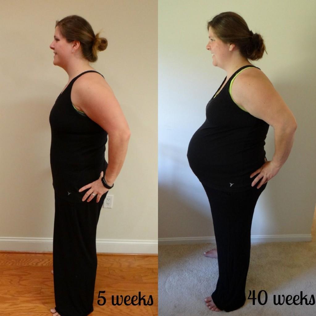 5 weeks vs 40 weeks pregnancy 2