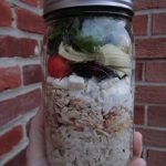 Mason Jar Greek Salads