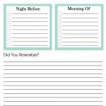 Out of the House Checklist – Free Printable