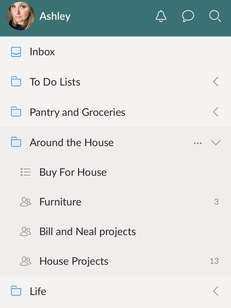Creating Shared Lists With Wunderlist