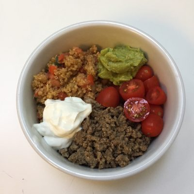 Make Ahead Mexican Quinoa Taco Bowls