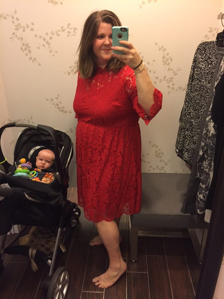 Lane Bryant Red Lace Dress