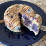 90 Second Low Carb Blueberry Cake