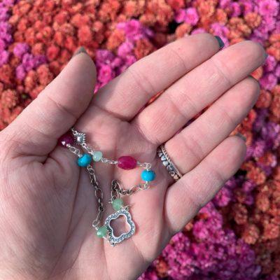 James Avery Kaleidoscope Gemstone Necklace